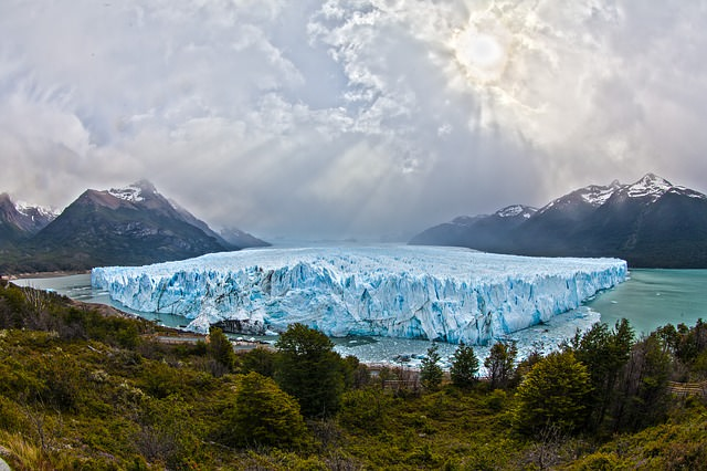 Backpacking in Argentinien Glacier