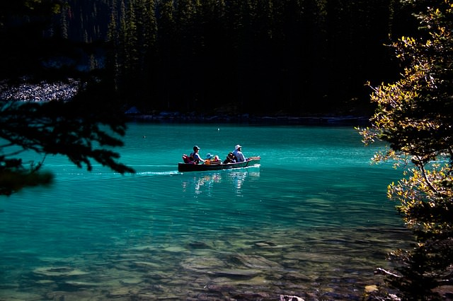 Backpacking in Kanada - Moraine lake