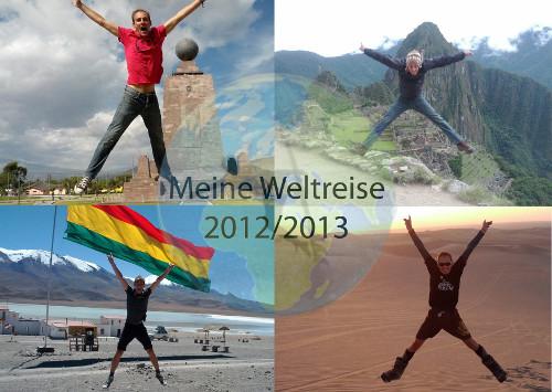 Weltreise Postkarte