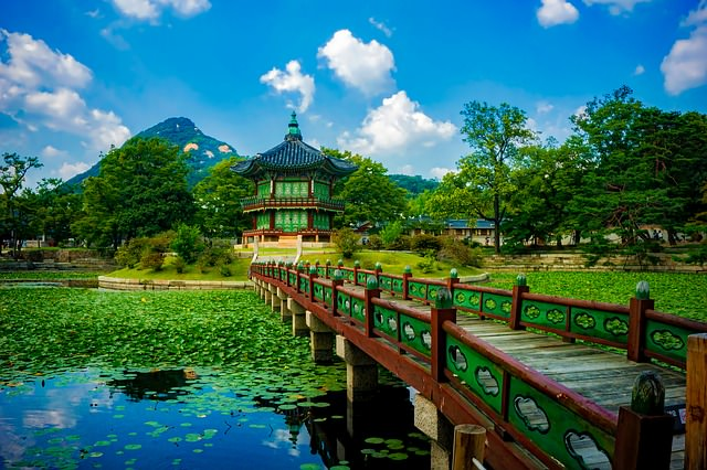 Backpacking in Suedkorea - gyeongbokgung palast