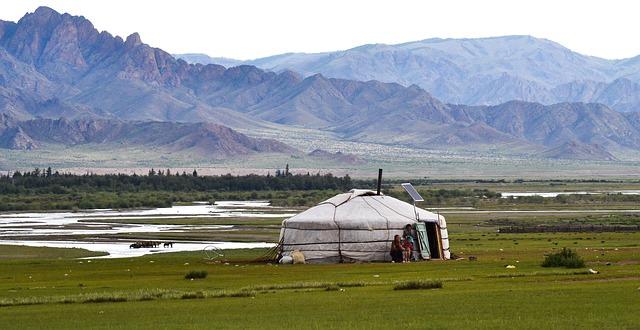 Backpacking in der Mongolei - Yurt