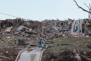 Verwüstung eines Tornados