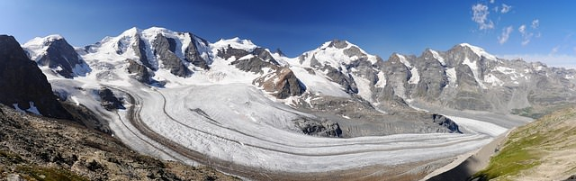 Backpacking in der Schweiz - Bernina Panorama