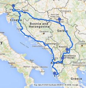 Roadtrip Balkan Küste