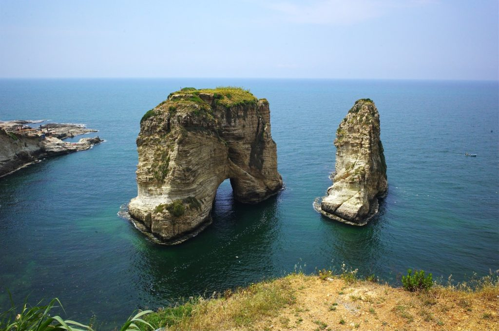 Backpacking im Libanon - Pigeon Rocks