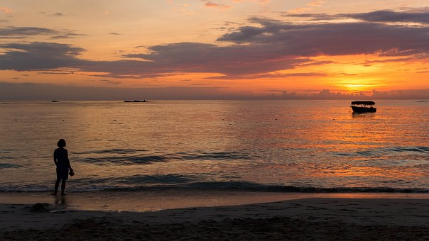 Sonnenuntergang in der Dominikanischen Republik