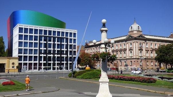 moderne und alte Architektur in Zagreb
