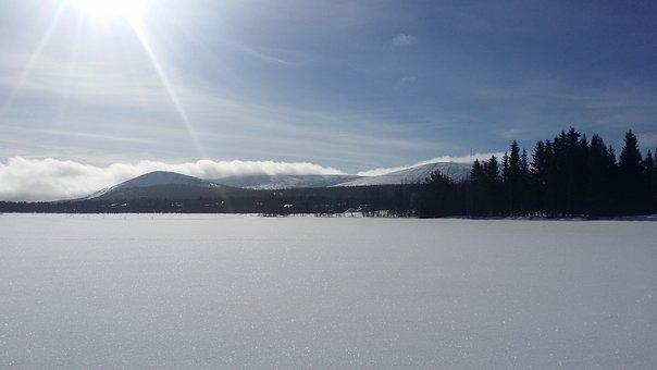 Verschneites Lappland