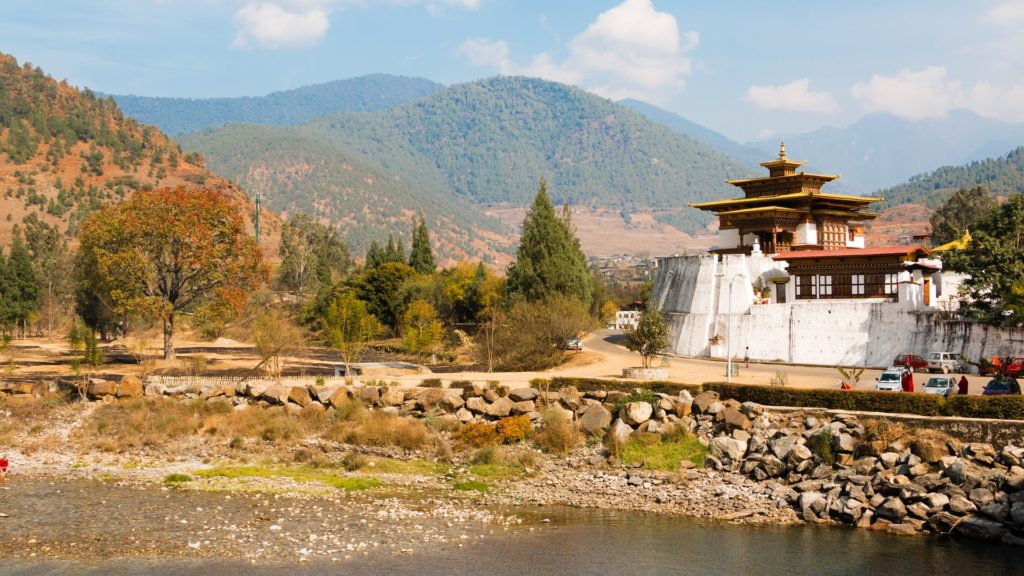 Backpacking in Bhutan - Punakha Dzong