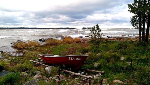 Ostee und verträumte Landschaft in Estland