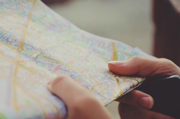 Landkarte betrachten