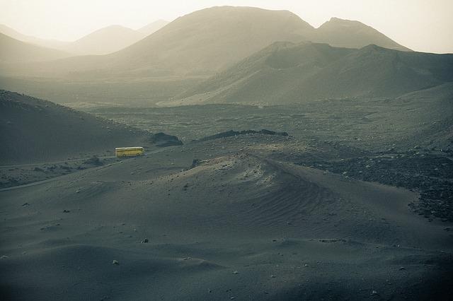 Mit dem Bus durch den Desert